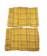 Williams-Sonoma Set of 8 100% Linen Napkins Gold Pinstripe Plaid Fall 20... - $49.49