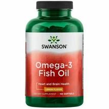 Swanson Omega-3 Fish Oil 150 Softgels - Lemon flavour - $29.91