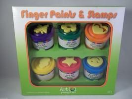 ART 101 Finger Paints 6 Stamps Set colors & shapes - $12.97