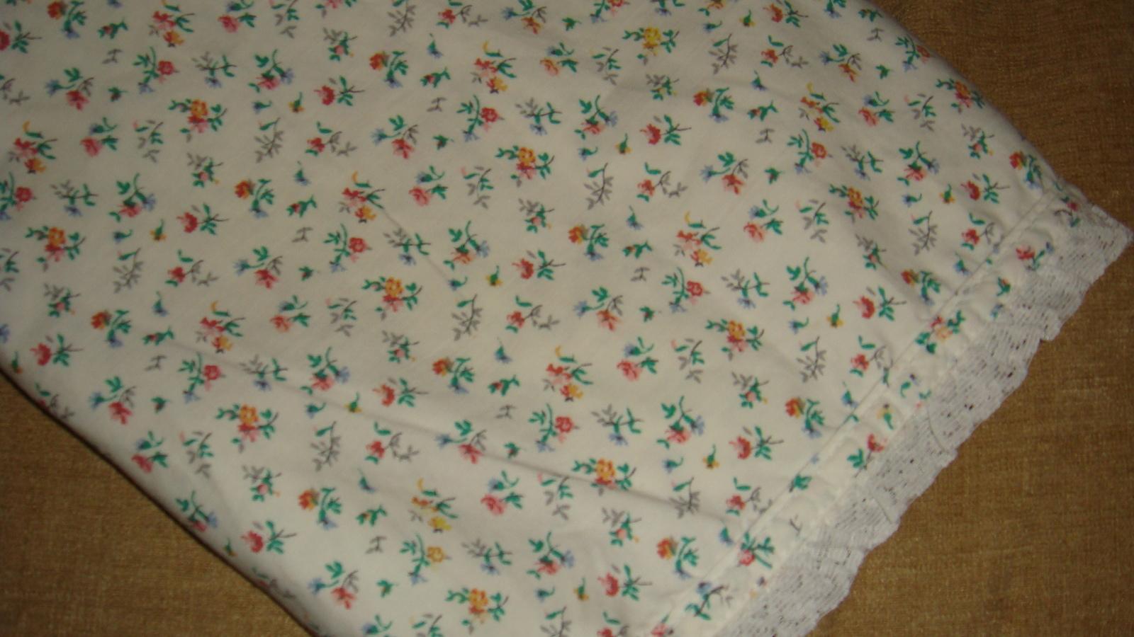 Ralph Lauren Beach Plum Floral 1 Standard Pillowcase Lace Edge Hem EUC