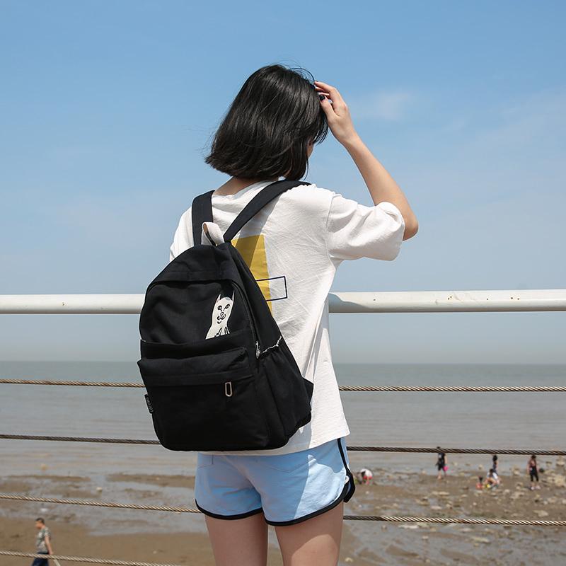 ec1aed894b DCIMOR Waterproof Canvas Backpacks female College Student Travel Backpack  Bag