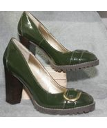 Apt 9 Ladies Shoes Heels Color Sapphire Green Patent Leather Size 8 M   - $25.21