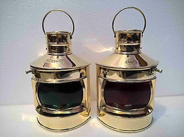 Set Of 2 Antique Nautical Ship Oil Lamp Boat Lantern Maritime Collectible - $59.60