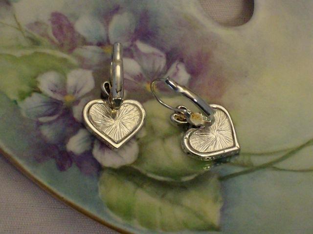 Cookie Lee Silver Heart Earrings - Item #18271 - New! image 3