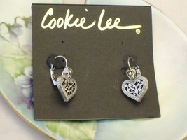 Cookie Lee Silver Heart Earrings - Item #18271 - New! image 4