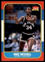 1986-87 Fleer Basketball Premier Mike Mitchell San Antonio Spurs #74 - $0.50