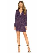 NEW Parker Dress Bernette Long Sleeve V Neck Twist Front Purple Sz 0 NWT... - $116.62