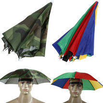 New Headwear MultiColor Umbrella Hat Cap Beach Sun Rain Fishing Camping ... - $13.50