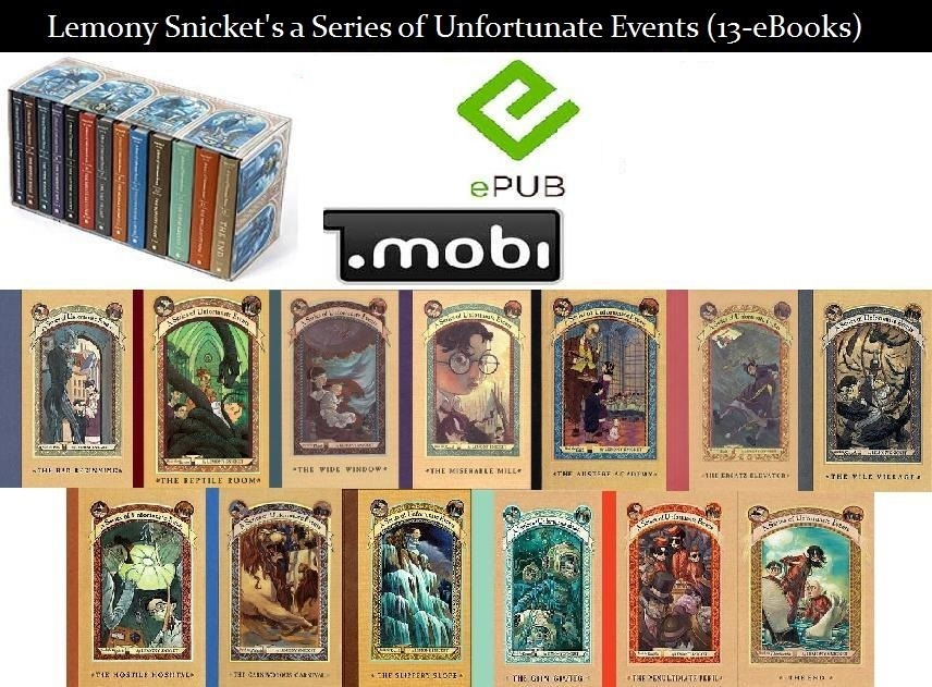 Used, Unfortunate Events series - Lemony Snicket (13 eBook) - Free Shipping for sale  USA