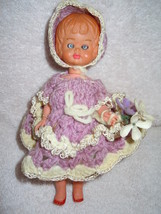 "Vintage 7"" Plastic Celluloid Doll with Opening Eyes  - $18.99"