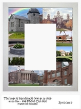 Syracuse University Picture Frame Mat Unique Graduation Gift Personalized  - $25.95