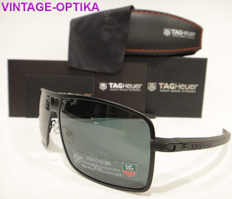 Tag Heuer 0987 Senna Racing TH0987 Sunglasses 305 Black Polarized Authentic New