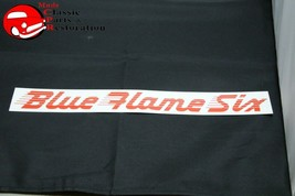 49-52 Chevy Blue Flame Six Air Cleaner Decal Red - $999.99