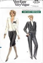 80s Vogue Pattern 7678 Misses Asymmetrical Clos... - $8.99