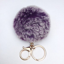 New! Purple Frosted Fur pom pom keychain fur pu... - $14.99