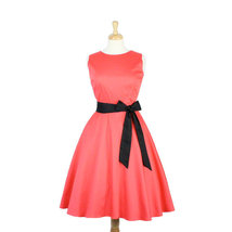 Coral Classic Full Circle Dress With Belt - $59.95