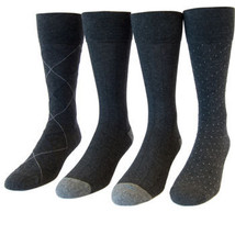 Kirkland Signature Men's Gray Grey Dress Socks 4 Pack CHEAP - $19.99
