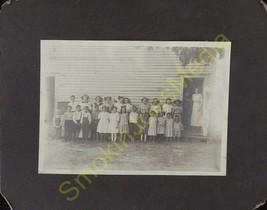 Vintage Photo 5 x 7 B & W Old Classroom Photo White Schoolhouse Children... - $14.65