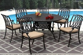 New 7 piece patio dining set Cast Aluminum Garden Furniture Outdoor - SA... - $1,768.14