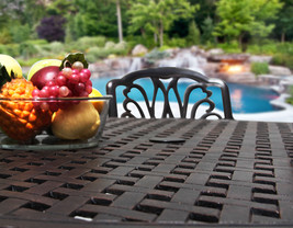 New 7 piece patio dining set Cast Aluminum Garden Furniture Outdoor - SAN MARCOS image 4