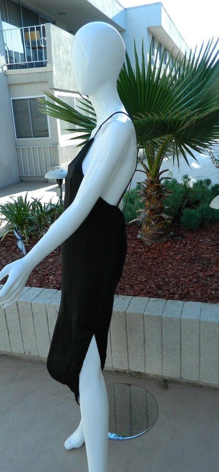 FREE PEOPLE INTIMATELY DRESS MAXI SLIP DRESS BLACK SIZE XS