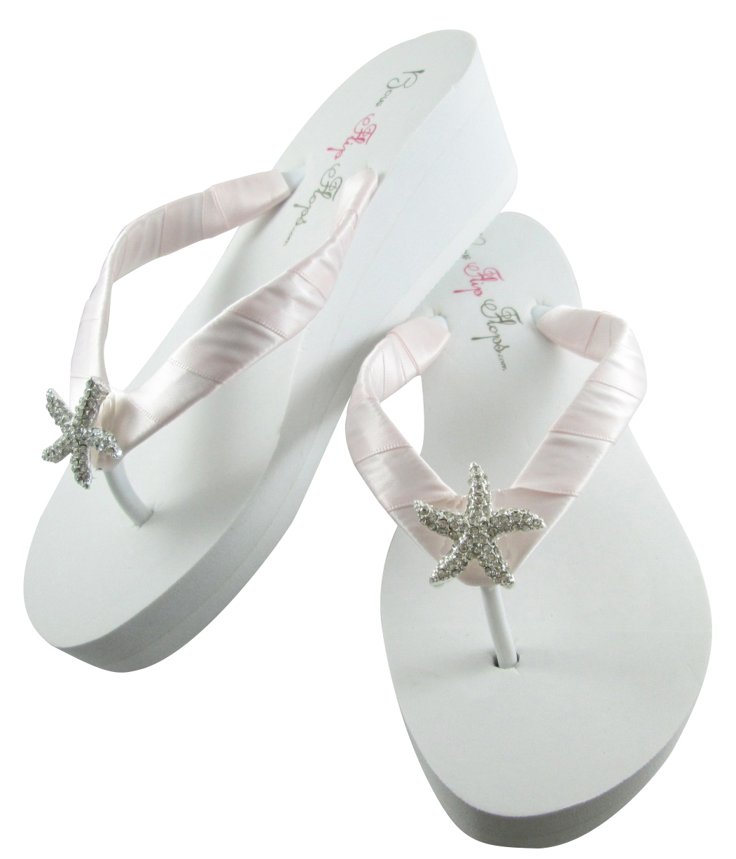 f931d7ca2d0 Ice Pink Starfish Rhinestone Bling Flip Flops and 50 similar items