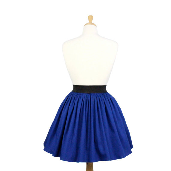 electric cobalt blue a line lindy pleated skirt skirts