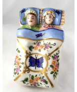 Limoges Box - Sleeping Couple in Bed with Flowe... - $125.00