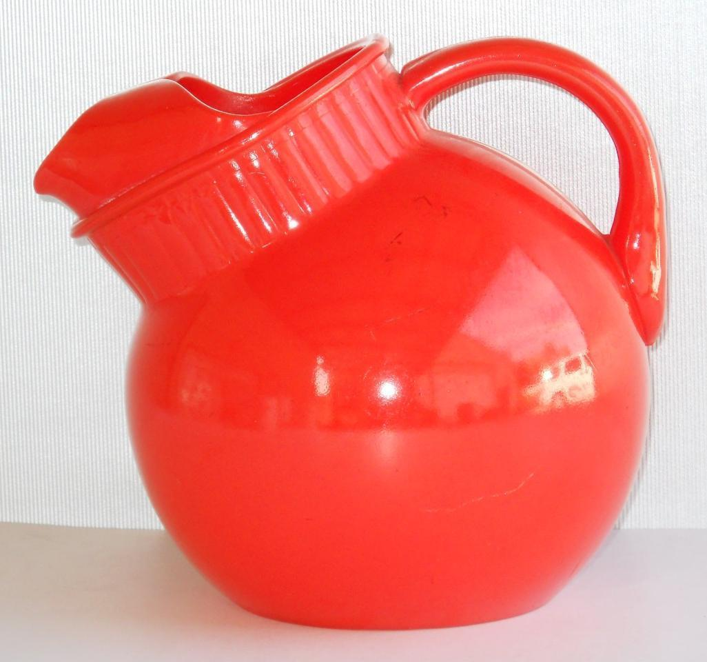 Primary image for Anchor Hocking Fired on Orange Glass Ball Pitcher