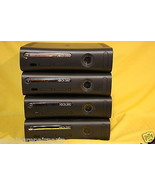 Lot 4x Microsoft Xbox 360 Core Black Console ON... - $68.60