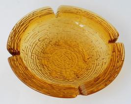 Anchor Hocking Large Soreno Amber Glass Ashtray... - $29.95