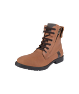 LibertyZeno Men's Genuine Leather Lace Up Zipper Casual Boots L-Jerry - $68.99