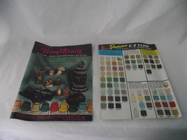 Duncan Ceramic Bisq Stain E Z Flow Color Chart Glazes Gloss Bisque Crack... - $9.89