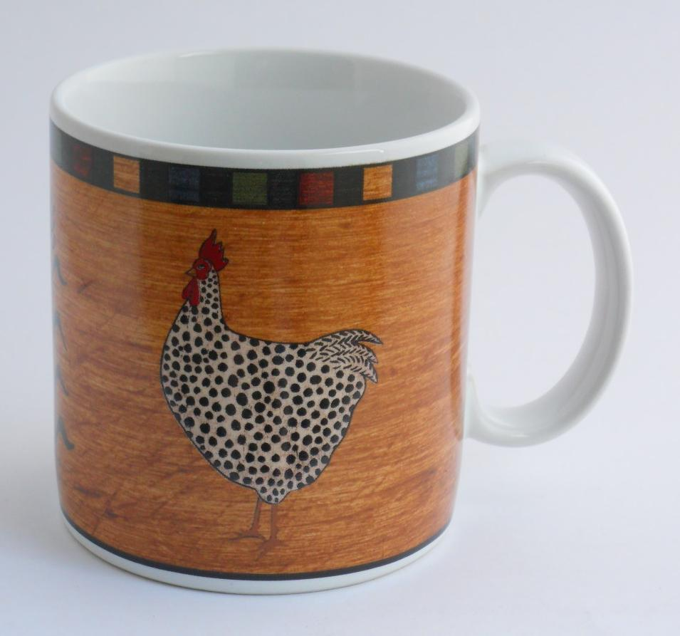 Primary image for BRANDON HOUSE by Warren Kimble Sakura Country Quartet Cup Mug  Chicken Rooster