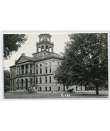 Court House Paw Paw Michigan 1950s RPPC Real Photo postcard - $9.41