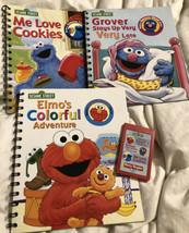 Story Reader: Sesame Street Elmo, Grover, Cookie Monster 3 Books & One Cartridge - $49.49
