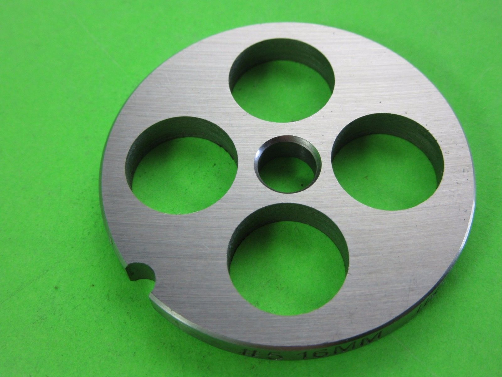 """#5 x 5/8"""" (16mm) Large Grind size Meat Chopper Grinder plate disc Chefs Choice - $13.48"""