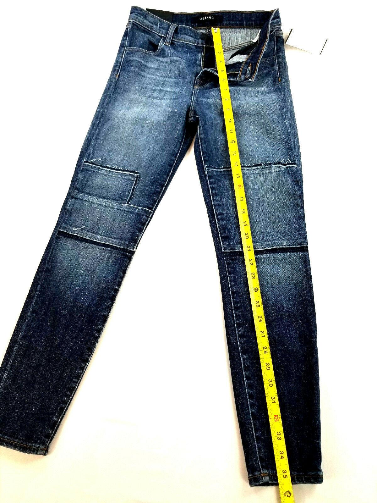 new J BRAND women jeans Jasper Patched JB001098 high rise crop 26 blue MSRP $298 image 4