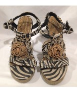 Kenneth Cole Reaction Strappy Sandle Wedge Shoe Size 7 Medium New in Box - $58.80
