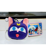 Luna black cat plush doll stuffed toy head hanging clip Sailor Moon S Ja... - $29.69