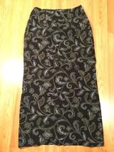 Geoffrey Beene Women's Black & Blue Floral Wrap Long Skirt, Size 6 - $10.88