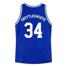 Shuttlesworth #34 Lincoln High School Ray Allen Basketball Jersey Blue Any Size image 2