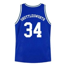 Shuttlesworth #34 Lincoln High School Ray Allen Basketball Jersey Blue Any Size image 5