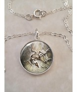 Sterling Silver 925 Necklace Archaeopteryx Dinosaur Bird Fossil - $30.20+