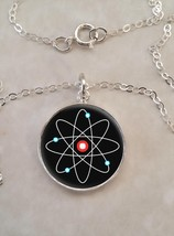 Sterling Silver 925 Necklace Atom Atomic Model Physics Science - £23.18 GBP+