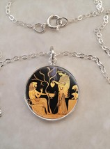Sterling Silver 925 Necklace Athena Hercules Tondo Greek Mythology - £23.18 GBP+
