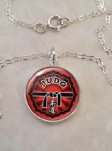 Sterling Silver 925 Necklace Judo Martial Arts MMA - £23.18 GBP+
