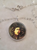 Sterling Silver 925 Necklace Medusa Head by Caravaggio Greek Mythology - £23.18 GBP+