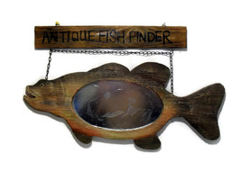 Wood Fish Vintage Handmade Hanging Wall Mirror   - $15.00