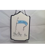 New Baby It's A Boy OR Girl Enameled Metal Wall Sign - $12.99